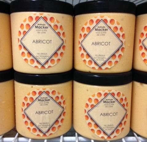 sorbet de fruits abricot